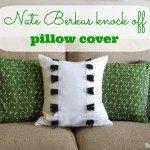 Black and White Fringe Pillow