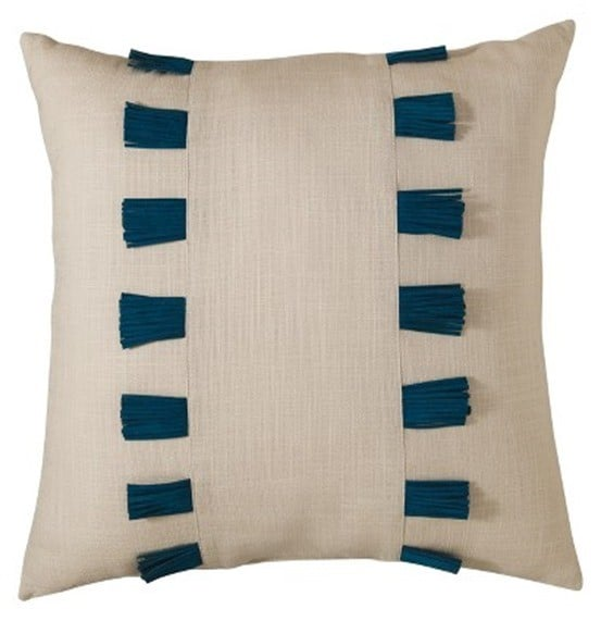nate berkus leather fringe pillow
