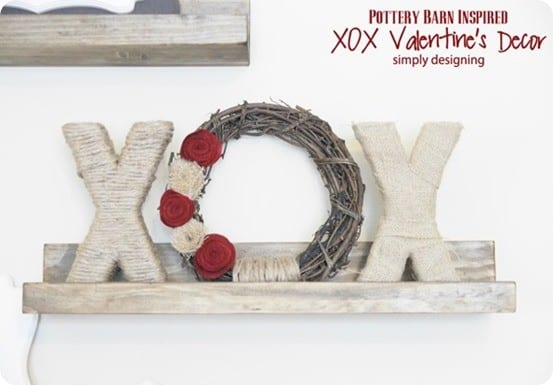 pottery barn inspired valentine's wreath