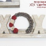 "Textural ""XOX"" Valentine's Décor"