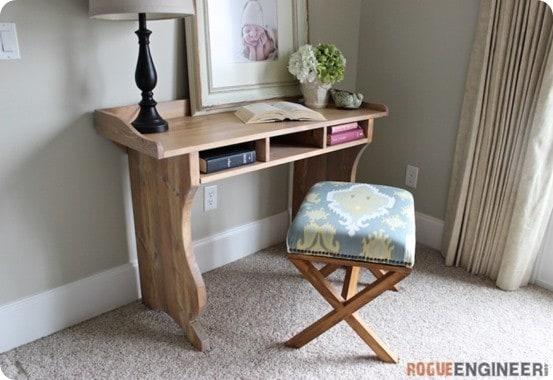 pottery barn inspired writing desk