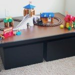Kids Play Table with Storage Carts