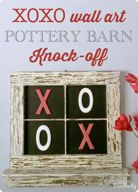 pottery barn xoxo knock off wall art for valentines day