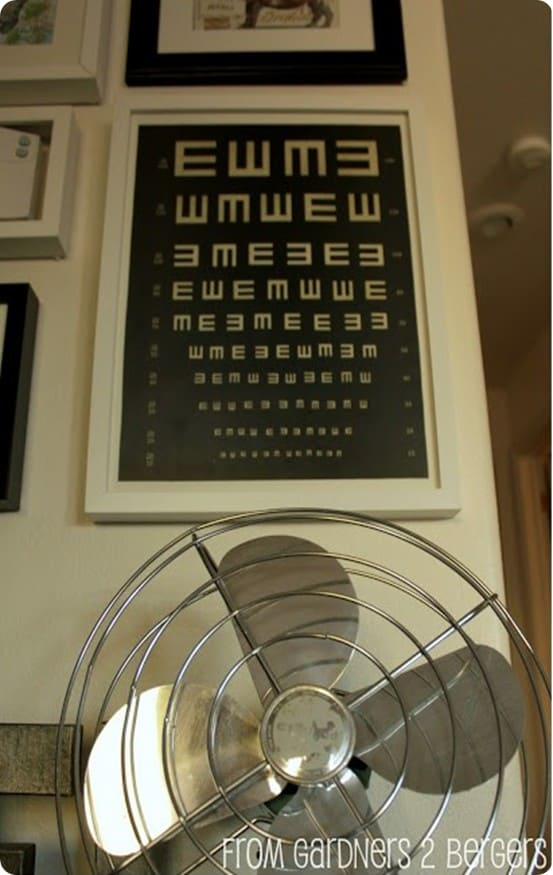 restoration hardware inspired diy eye chart art