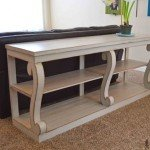 Scroll Leg Console Table