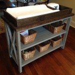 "Rustic ""X"" DIY Changing Table"