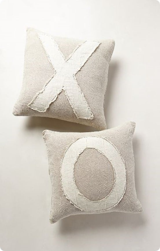 sentmentalist pillow from anthropologie