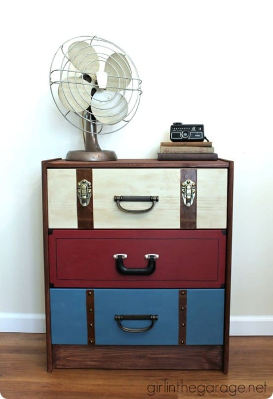 suitcase dresser ikea hack