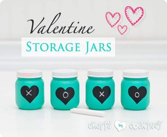 valentine decor from baby food jars