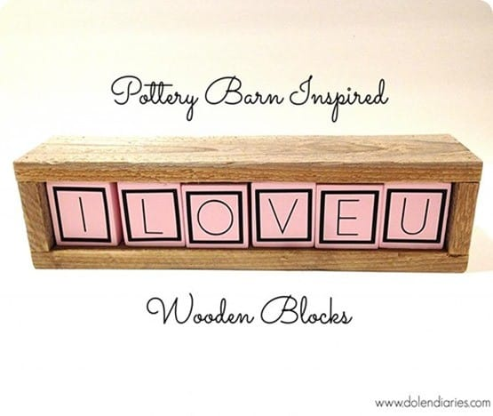 wood i love you blocks