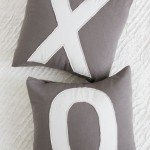 """X"" and ""O"" Valentine's Pillows"