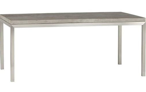 Concrete Top Parsons Table