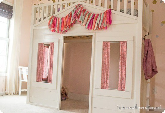 Cottage Loft Bed For A Little Girl S Room