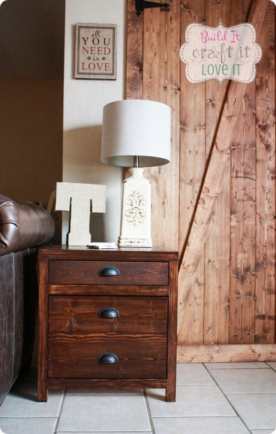 DIY Furniture Restoration Hardware inspired Printmaker's side table