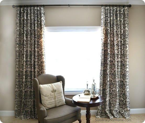 DIY Home Decor How to Stencil Drop Cloth Curtains