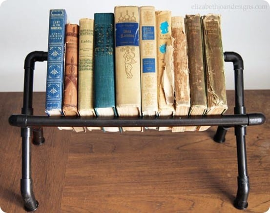 DIY Home Decor Industrial Book Rack