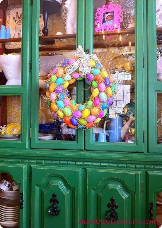 Easter Crafts Plastic Easter Egg Wreath