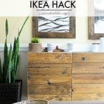 Reclaimed Wood Buffet IKEA Hack