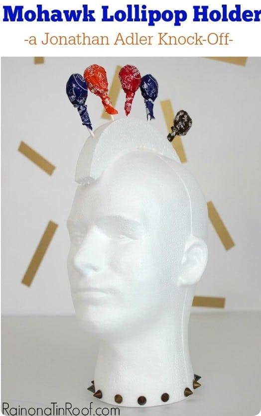 Jonathan Adler inspired mohawk lollipop holder