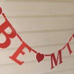 "Sparkly Valentine's Day ""Be Mine"" Banner"