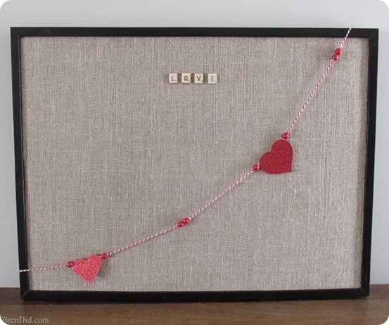 Pottery Barn inspired love bulletin board