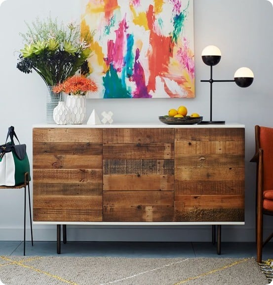 Reclaimed Wood and Lacquer Buffet from West Elm
