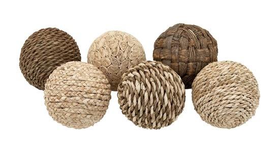 Woodland Imports Decorative 6 Piece Ball Sculpture Set