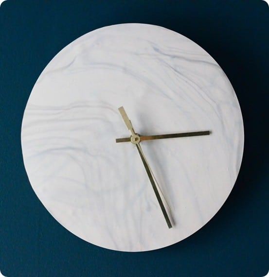 Faux Marble Wall Clock Knockoffdecor Com