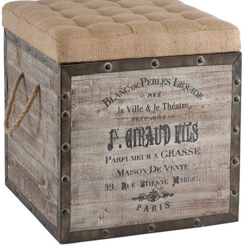 french wine crate ottoman