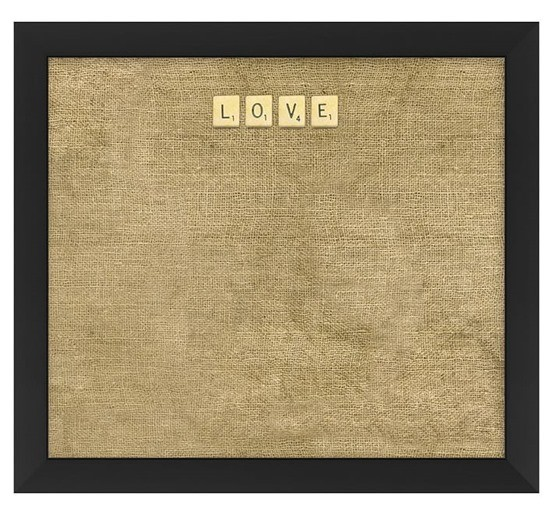 love scrabble corkboard