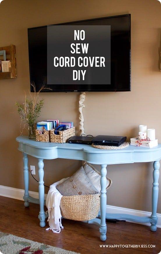 no sew cord cover