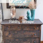 pottery barn inspired distressed dresser