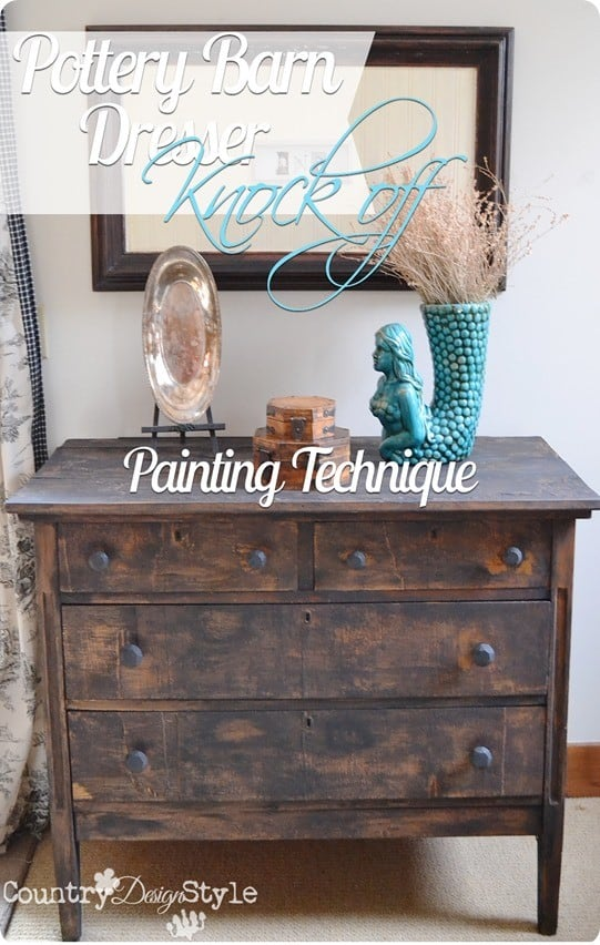 Distressed Black Dresser Makeover Knockoffdecor Com