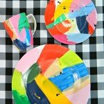 Abstract Painted Dinnerware