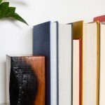 Anthropologie inspired charred wood bookends