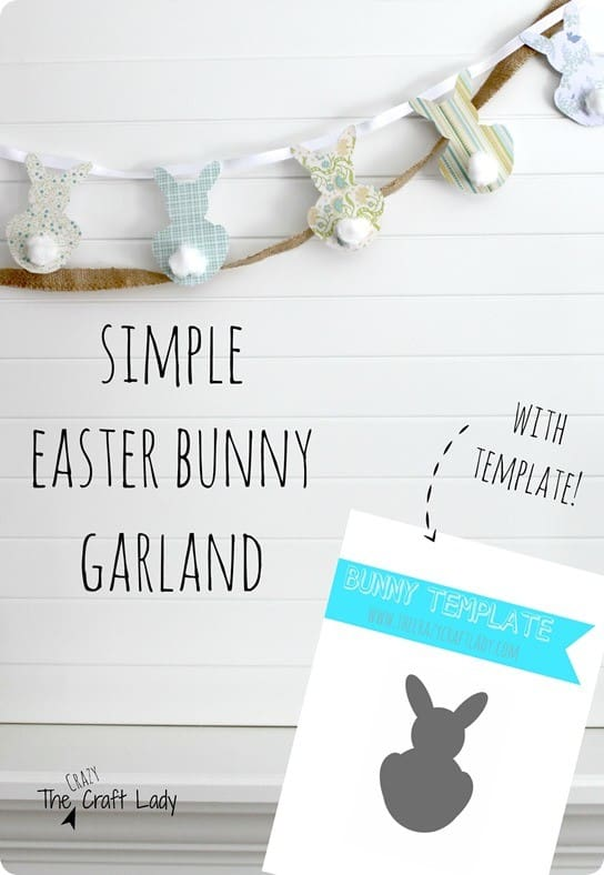 DIY Easter Crafts Bunny Garland