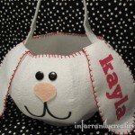 Personalized Felt Easter Basket