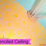 Damask Stenciled Ceiling
