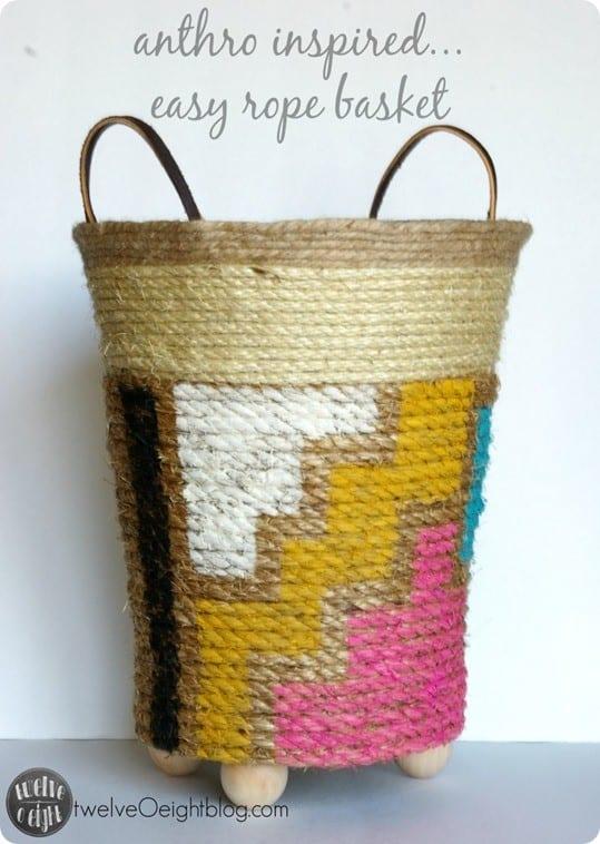 DIY Home Decor Rope Basket
