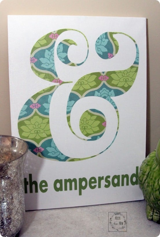 DIY Wall Decor  Ampersand Art