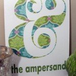 Ampersand Wall Art in Spring Colors