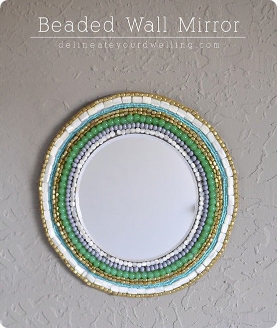 DIY Wall Decor West Elm Inspired Beaded Wall Mirror