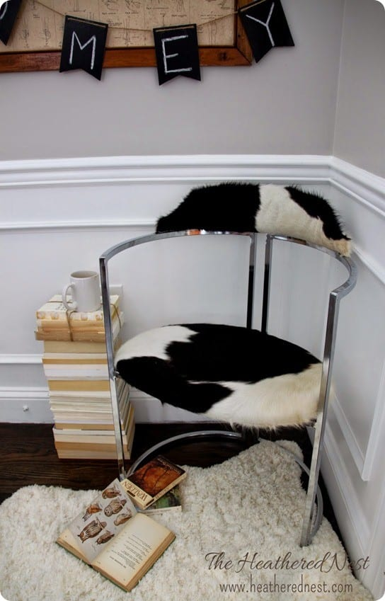 IKEA Hack Cowhide Chair