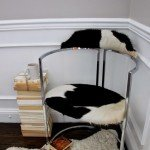 Trash-to-Treasure Chrome and Cowhide Chair