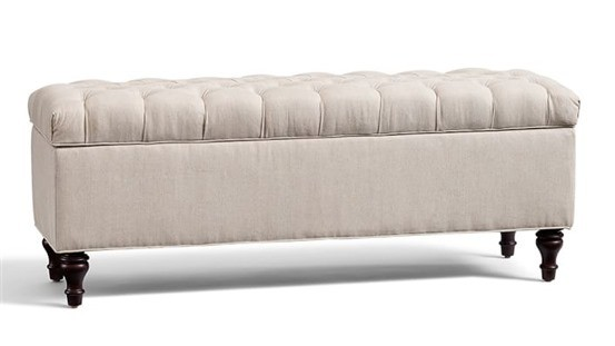 Lorraine Tufted Storage Bench