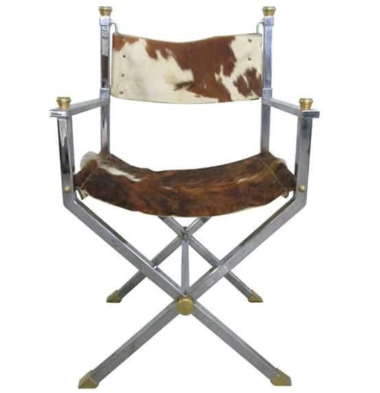 Trash To Treasure Chrome And Cowhide Chair