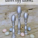 Silver Egg Stands for a Spring Mantel