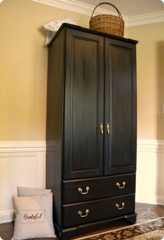Black Painted Cabinet Makeover