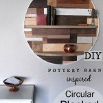 Round Planked Wood Wall Shelf