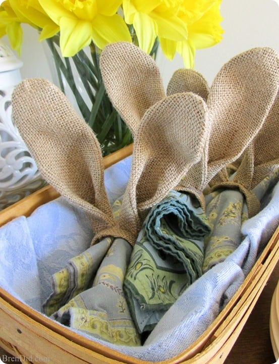 Pottery Barn Inspired Easter Bunny Napkin Rings